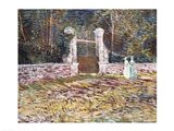 Entrance to the Voyer-d'Argenson Park at Asnieres Art Print