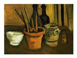Still Life of Paintbrushes in a Flowerpot, 1884 Art Print