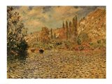 The Seine at Vetheuil Art Print