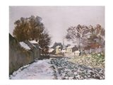 Snow at Argenteuil, c.1874 Art Print