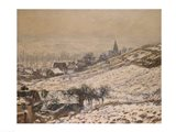 Winter in Giverny, 1885 Art Print