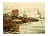The Seine at Petit-Gennevilliers, 1872 Art Print