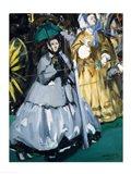 Women at the Races, 1865 Art Print