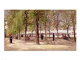 Terrace in the Luxembourg Garden, 1886 Art Print