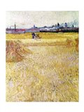 Wheatfield with Sheaves, 1888 Art Print