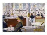 A Cafe, Place du Theatre Francais Art Print