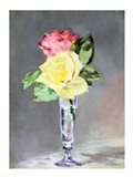 Roses in a Champagne Glass, c.1882 Art Print