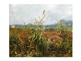 Corn Fields and Poppies, 1888 Art Print