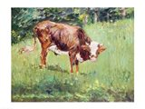 Young Bull in a Meadow, 1881 Art Print