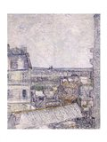 View from Vincent's room in the Rue Lepic Art Print