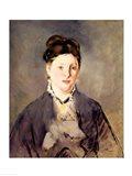 Portrait of Madame Manet Art Print