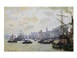 The Thames at London, 1871 Art Print