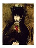 Berthe Morisot Wearing a Veil, 1872 Art Print