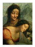 Detail of the Virgin and St. Anne from The Virgin and Child with St. Anne Art Print