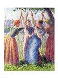Women Planting Peasticks, 1891 Art Print