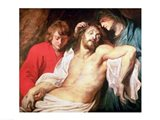 Lament of Christ by the Virgin and St. John Art Print