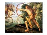 Hercules and the Stymphalian birds, 1600 Art Print