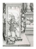 The Triumphal Arch of Emperor Maximilian I of Germany: Detail of column drawing Art Print