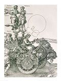 Design for 'The Great Triumphal Chariot of Emperor Maximilian I': detail showing the Virtues steering the team of horses Art Print