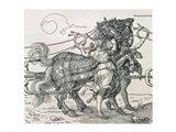 Triumphal Chariot of Emperor Maximilian I of Germany: detail of the horse teams Art Print