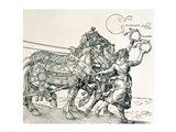 Triumphal Chariot of Emperor Maximilian I of Germany: horse detail Art Print