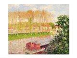 Sunset at Moret-sur-Loing, 1901 Art Print