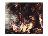 Nymphs and Satyrs Art Print