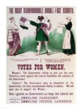 Women's Suffrage Poster The Right Dishonourable Double-Face Asquith Art Print