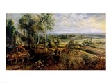 An Autumn Landscape with a view of Het Steen in the Early Morning Art Print