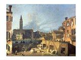 Venice: Campo San Vidal and Santa Maria della Carita Art Print