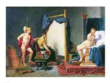 Apelles Painting Campaspe in the Presence of Alexander the Great Art Print
