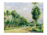 The Road to Versailles at Louveciennes Art Print