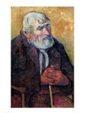 Portrait of an Old Man with a Stick, 1889-90 Art Print