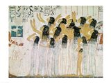 Weeping Women in a Funeral Procession Art Print