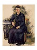 Madame Cezanne in the Garden Art Print