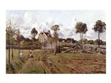 Pontoise Landscape, c.1872 Art Print