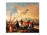 Dance on the Banks of the River Manzanares, 1777 Art Print