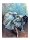 Seated Dancer - bent over Art Print