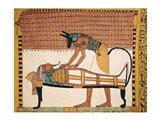 Anubis attends Sennedjem's Mummy Art Print