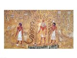The sun god Ra in his solar barque Art Print