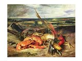 Still Life with Lobsters Art Print