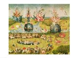 The Garden of Earthly Delights: Allegory of Luxury, horizontal central panel of triptych, c.1500 Art Print