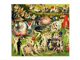 The Garden of Earthly Delights: Allegory of Luxury, center panel detail Art Print