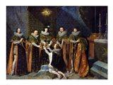 Louis XIII Receiving Henri d'Orleans Art Print