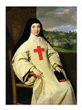 Mother Angelique Arnauld Abbess of Port-Royal, 1654 Art Print