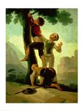 Boys Climbing a Tree Art Print