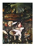 The Garden of Earthly Delights, Hell, right wing of triptych, c.1500 Art Print