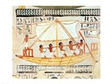 Boatmen on the Nile, from the Tomb of Sennefer Art Print