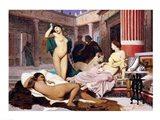 Greek Interior, 1848 Art Print