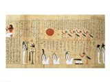 Mythological papyrus of Imenemsaouf Art Print